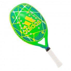 rb5ga4 raquete de beach tennis adidas match verde e amarelo
