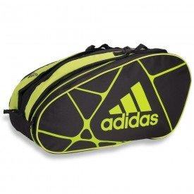 raqueteira adidas beach tennis control 1 9 x10 preta e limao