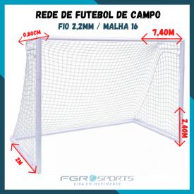 Rede De Futebol De Campo / Fio 2,2 Milímetros / Malha 16