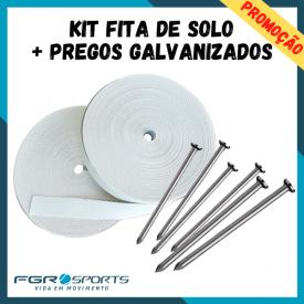 kit fita de solo pregos galvanizados