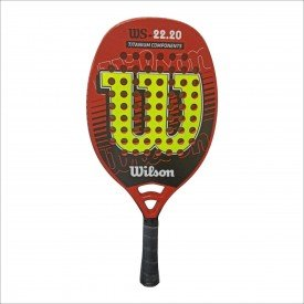 raquete de beach tennis ws 2220 laranja e amarela wilson d697cd6702ff2bdb3eb2693f2cda008c