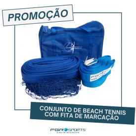 Conjunto de Beach Tennis com Fita de Marcação