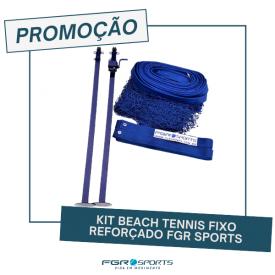 Kit Beach Tennis Fixo Reforçado FGR Sports (para jogos não oficiais)