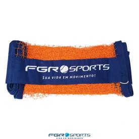 rede de beach tennis lona bagum personalizada fgr laranja c azul