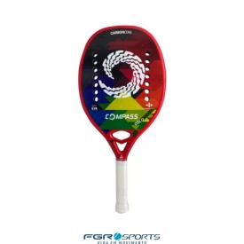 raquete de beach tennis oslo full carbon compass