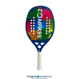 raquete de beach tennis colors azul