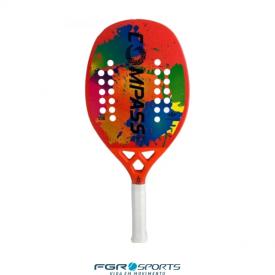 raquete de beach tennis colors laranja