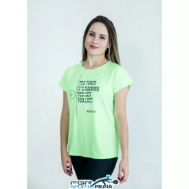 camiseta feminina let s go