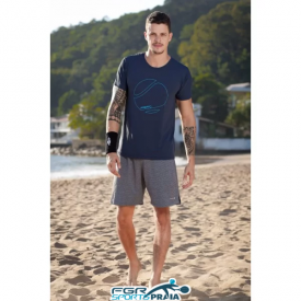 camiseta masculina dry marinho