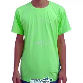 camiseta masculina com protecao uv verde
