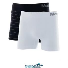 kit 2 cuecas boxer microfibra sem costura listrada