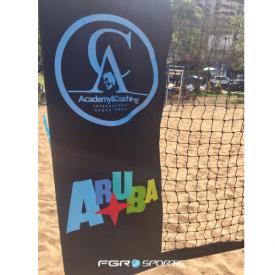 rede de beach tennis lona reforcada personalizada
