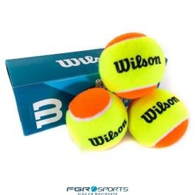 bola beach tennis wilson tour premier tubo c 3 bolas verde limao laranja
