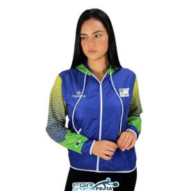 corta vento selecao brasileira de beach tennis feminina