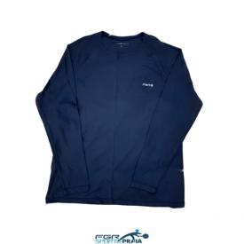 camiseta manga comprida fgr azul masc