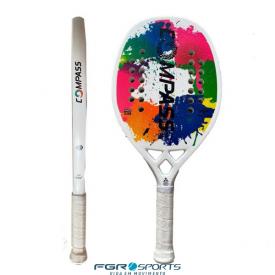 raquete beach tennis colors white