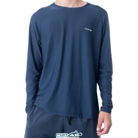 camiseta manga longa azul fgr nova